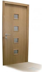 moderna vhodna vrata hrast