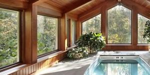 lesena okna za brunarico